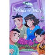 Turma da Mônica jovem conhecem violetas na janela